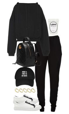 A fashion look from September 2017 by theeuropeancloset featuring Balenciaga, Chalayan, Gucci and ASOS Lazy Outfits, Teen Fashion Outfits, Kpop Outfits, Teenager Outfits, Mode Outfits, Dance Outfits, Stylish Outfits, Girl Outfits, Dance Practice Outfits