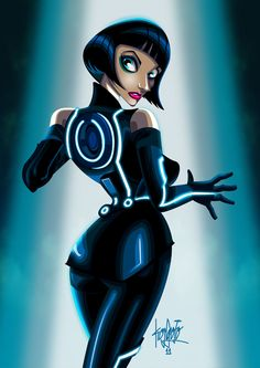 Quora form Tron Legacy.I think she looks more like Nina Wallace in Pulp Fiction...