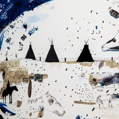 Black Tipi - Andrew Steiger - Drawing - Tappan Collective