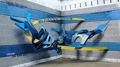 Graffiti der besonderen Art   Optische Illusionen von Odeith