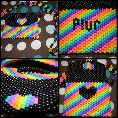 Love Heart Colourful Bead Design