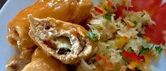 Roladki drobiowe z mozzarellą - Blog z apetytem Mozzarella, Cauliflower, Grains, Rice, Meat, Chicken, Vegetables, Blog, Cauliflowers