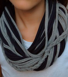 like the braid in it T-shirt scarf