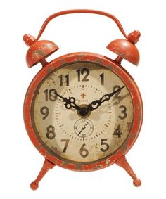 Look what I found on #zulily! Red Classic Magnet Clock by VIP International #zulilyfinds