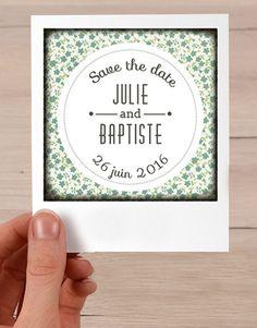Save the date polaroïd, faire part mariage par crea-graphic : http://www.alittlemarket.com/faire-part/fr_save_the_date_polaroid_faire_part_mariage_-14693223.html