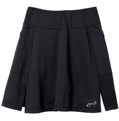 """Love riding your bike into town, but not always comfortable walking around in spandex? Terry's flexible, Flare Skort is a practical solution functioning as both high-end cycling gear and around-town sportswear. 15 1/2"""" poly/Lycra® mesh outer skirt with wide pull-on waistband; dual side hip pockets; lightweight nylon/Lycra® inner short with 6"""" inseam and our premium Flex chamois.  $84"""