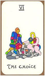 Tarot cards // The choice // Niki de Saint Phalle // Drawing The Lovers Tarot Card, The Doors Of Perception, French Sculptor, Conceptual Art, Tarot Decks, Archetypes, Tarot Cards, Magick, Choices
