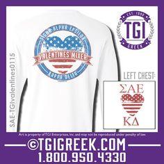 TGI Greek - Sigma Alpha Epsilon - Kappa Delta - Valentines Party - Greek T-shirt #tgigreek #sigmaalphaepsilon #kappadelta #valentines