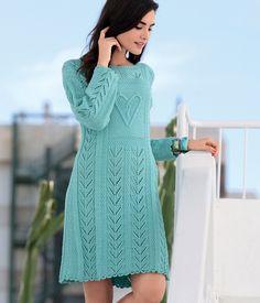 Платье с рельефным мотивом «Сердечко»
