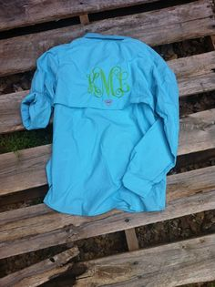 Monogrammed Columbia Fishing Shirt  Women's PFG by ShopEllieBelle