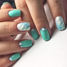 19 Fun Designs For Cute Nails That Will Make You Flip! Here are 19 ideas for really cute nails you will love! There are a ton of nail art designs out there, so how do you know which one is best for you? Winter Nails, Spring Nails, Summer Nails, Unicorn Nails Designs, Really Cute Nails, Green Nails, Teal Nails, Purple Nail, Cute Nail Designs