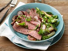 25-Minute Flank Steak with Charred Vidalia Onion Salad recipe from Food Network Kitchen via Food Network