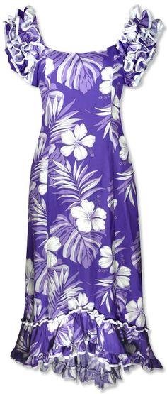 mea'aloha waikiki topaz hawaiian dress *love this!