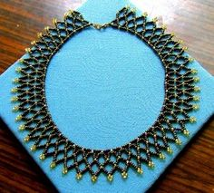 Free Seed Bead Necklace Netting Stitch Patterns - Bronze Age Necklace