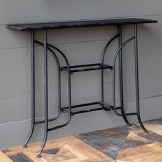 Our Narrow Metal Console Table is just the right size for a slim hallway. Visit Antique Farmhouse for more entry tables or consoles! Shabby Chic Farmhouse, Antique Farmhouse, Farmhouse Style Decorating, Shabby Chic Decor, Decorating Your Home, Farmhouse Decor, Farmhouse Interior, Rustic Chic, Modern Farmhouse