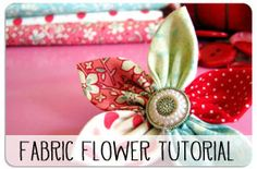 make a pointed petal fabric flower . . .