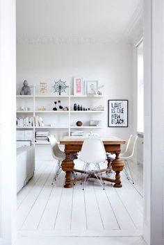 Look We Love: Traditional Table Plus Modern Chairs   Apartment Therapy