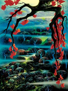 Valley of Dreams by Eyvind Earle - the serigraph of this painting was my biggest art purchase