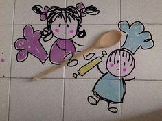 Copyright Georgia Conte- Thalia e Zeno in cucina...