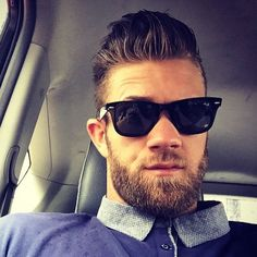 Bart-Styles , Popular 11 Views 29 Nisan 2018 Beard Styles , Popular 11 Views Bryce Harper, right fielder for the Washington Nationals makes his presence Trendy Mens Hairstyles, Trendy Haircuts, Undercut Hairstyles, Celebrity Hairstyles, Haircuts For Men, Baseball Haircuts, Men's Haircuts, Bryce Harper Haircut, Pompadour Style