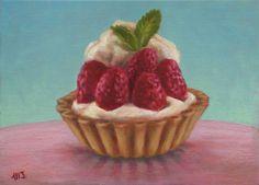 Marion Stephan - Erdbeertörtchen, #marionstephanfineart, #cupcakepainting, #cupcake