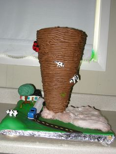 Chocolate tornado cake by mbeaty77, via Flickr