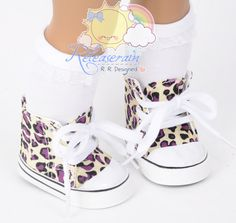 Cons Canvas LaceUp Sneakers Boots Doll Shoes Cream by Releaserain, $7.99