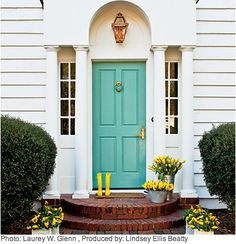 Crystal Cattle: Turquoise Thursday: #Turquoise Front Door
