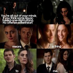 She might not have at the beginging but then she became FAMILY Hayley And Klaus, Klaus And Hope, Vampire Diaries Damon, Vampire Diaries The Originals, The Orignals, Klaus The Originals, The Mikaelsons, Out Of Your Mind, Tv Show Quotes