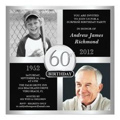 60th #Birthday Invitations Then & Now Photos