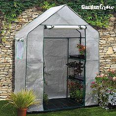 Garden Grow Premium Portable 6 Shelf Greenhouse from Thompson & Morgan - experts in the garden since 1855