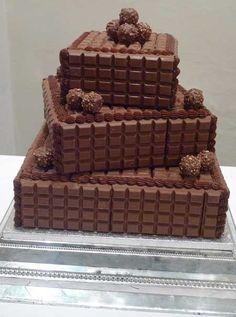 chocolate bar cake...holy sweetness batman!