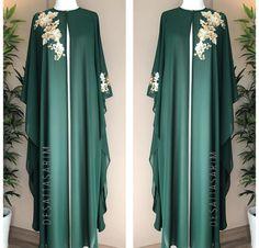 Colour n design Muslim Women Fashion, Islamic Fashion, Mode Abaya, Mode Hijab, African Lace Dresses, African Fashion Dresses, Kaftan Pattern, Hijab Style Dress, Abaya Designs