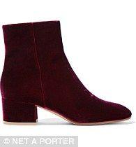 Gianvito Rossi velvet ankle boots, $945, Net-A-Porter