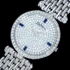 Delaneau - Montre - Or Blanc, Saphirs et Diamants