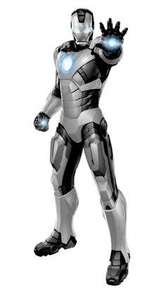 Iron Man White+Black Scheme by 666Darks on deviantART