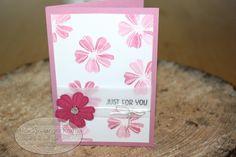 Flower Shop Grußkarte - gestempelt auf Wasserfarben Papier