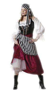 You can quit browsing for Halloween costumes for women now. You've struck gold. This Pirate's Wench Adult Women's Costume is an astounding way to make your Halloween night a haunting experience no matter where you're headed. Buy Costumes, Costume Shop, Girl Costumes, Adult Costumes, Costumes For Women, Cosplay Costumes, Costume Ideas, Family Costumes, Costume Craze