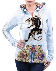 CHRISTIAN AUDIGIER Ed Hardy Panther Womens Hoodie  $49.99