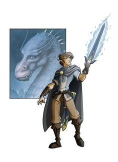"""Eragon by ~Eumenidi on deviantART"" this is how he's supposed to look."