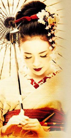geisha disegno bianco e nero - Cerca con Google