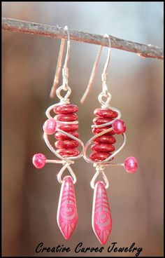 Sterling Silver Wire Wrap Red Glass and Pearl Earrings Vintage Accessories, Fashion Accessories, Selling On Pinterest, Pearl Earrings, Drop Earrings, 3 Shop, Red Glass, Vintage Fashion, Vintage Style