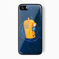 Dr Who Tardis Adventure Time Galaxy for Iphone and Samsung Galaxy Case (iPhone 5/5s black)