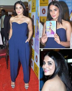 #RichaChadda opted for a blue jumpsuit from Love when she came to attend a book launch.   To Know More About Bollywood Visit: www.biscoot.com  #Bollywood #ActressPhotos #BollywoodCelebrityPhotos #CelebrityPhotos