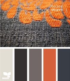 Would make for nice quilt colours Color Palette - Paint Inspiration- Paint Colors- Paint Palette- Color- Design Inspiration Colour Pallette, Color Palate, Colour Schemes, Color Combos, Color Patterns, Orange Palette, Grey Palette, Design Seeds, Pallets