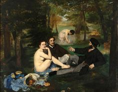 Luncheon on the grass, 1863 - Manet