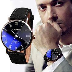 Franterd® Uhren, Herren Armbanduhr Luxusmode leder Blue Ray Glas Analog Quarzhr Chronograph Uhr Schwarz - http://on-line-kaufen.de/franterd/franterd-uhren-herren-armbanduhr-luxusmode-blue