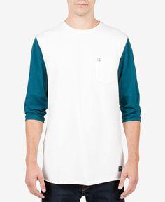 Volcom Men's Slam Stone Three-Quarter Sleeve T-Shirt