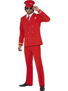 Lentokapteeni, puna-kulta. Lentokapteenin naamiaisasu on tyylikäs valinta ja ihailevat katseet varmasti kääntyvät tämän univormun puoleen. Punainen puku on koristeltu kullanvärisin yksityiskohdin. Lentokapteeni on arvonimi, joka voidaan myöntää ansioituneille ilmailun parissa työskenteleville tai ansioituneille ilmailun harrastajille.