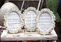 Frame Baroque Regency Frame Oval Picture Frame The Ash Grove sheet music on Etsy, $11.00